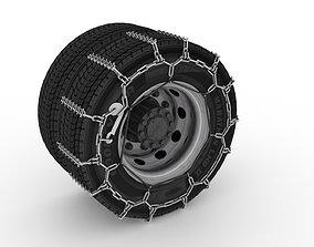 Studded Truck Tire Chains 3D model