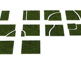 3D model Grass Puzzle 14 Am63