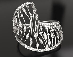 Lace knuckle ring 3D print model