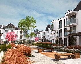 Appartments Multi Unit Houses Complex 3D model
