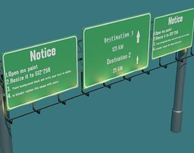 3D asset Highway Signboards