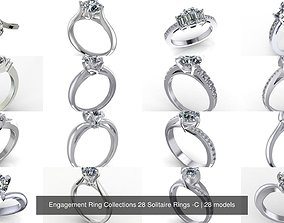 3D Engagement Ring Collections 28 Solitaire Rings -C