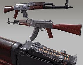 Ak 47 3D model game-ready