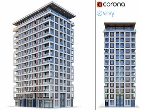 Modern residential building 2 3D