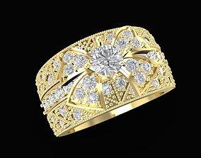 1559 luxury diamond ring bow tie 3D print model
