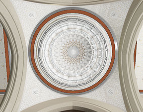 3D Islamic dome decorated