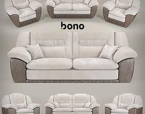 3D sofa and armchair BONO Chester1