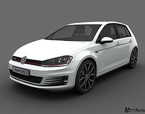 3D model Volkswagen Golf GTI 5 doors 2014
