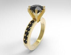 1 emerald ring 3D printable model