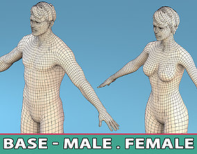 Base Character Male or female anatomy 3D asset