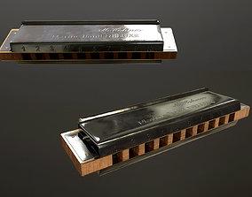 musical Harmonica 3D model