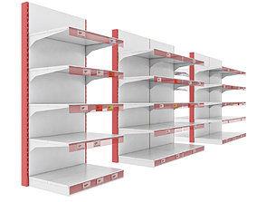3D model Storage shelves