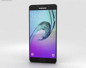 amoled 3D model Samsung Galaxy A7 2016 Black