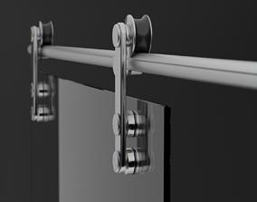 3D model Glass sliding doors for interior
