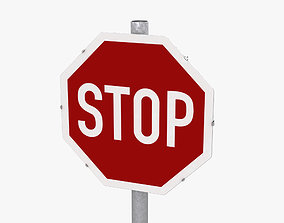 Stop Sign 3D freeway