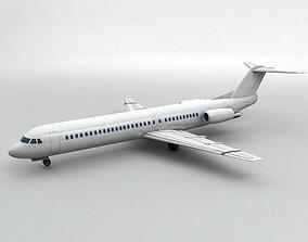 3D model Fokker 100 Airliner - Generic White