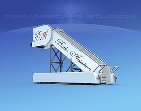 Airport Stairs Butler Aviation 3D model