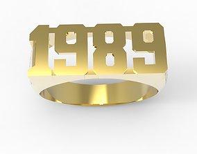3D printable model ring 1989