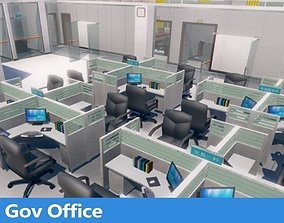 3D model game-ready Office