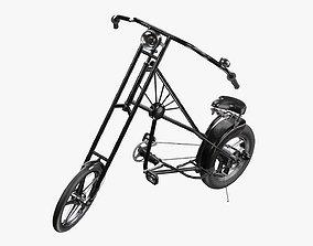 3D model Vintage bicycle stylized 02