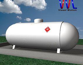 Propane Tank 3D model low-poly