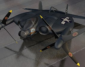 Vought XF5U-1 Flying Flapjack fighter 3D model