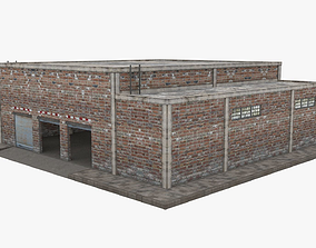 3D asset game-ready Garage Building