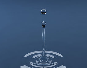 Splash water drop 15 3D model