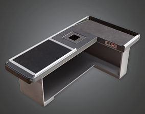 Commerical Checkout Counter - SAM - PBR Game 3D asset
