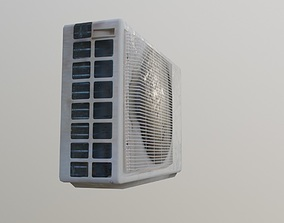 lowpoly game ready air conditioner 3D asset