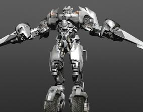 VR / AR ready Transformers - Autobot - Sideswipe 3D model