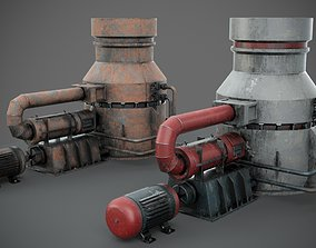 Industrial device 3D model PBR