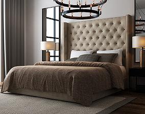 Rustic Bedroom 029 3D model