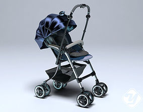 Baby Stroller for 3ds Max