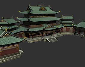 3D model Ancient Chinese Shop Buildings with Internal