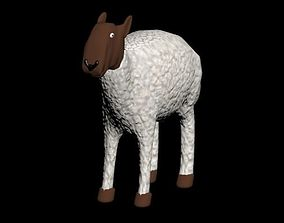 3D model sheep rigged and animated