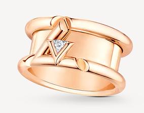 LV VOLT diamond ring replica 3D print model