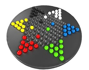 Chinese Checkers 3D asset VR / AR ready