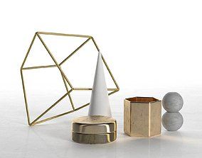 cube 3D Geometric Decor Sculptures Set
