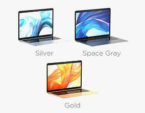 3D model Macbook Air 2018 13 Inches All Colors