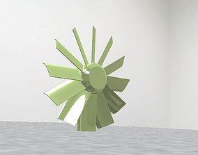 Axial flow fan 3D model