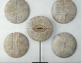 Zulu Round Shields 1 3D