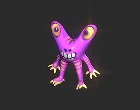Twin Eye head toy alien 3D asset