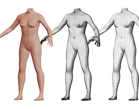 3D model Character 45 High and Low-poly - Body