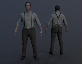 3D asset Noir Character