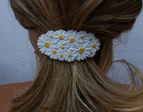 3D printable model Hair Barrete with Daisies 60-76