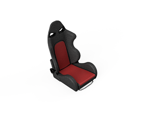 3D print model 1to10 RC Race Seat