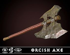 Orcish Axe 3D asset
