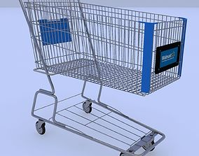 Walmart Shopping Cart 3D model