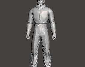 Staff Officer Black 3D Model